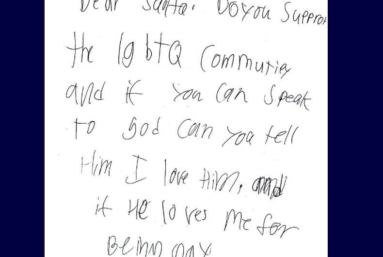 Will's handwritten letter
