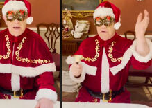 "Elton John is dressed as Santa in Christmas video & he ""can't wait"" to come to a town near you"