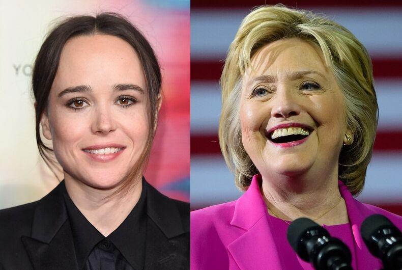 Elliot Page/Hillary Clinton