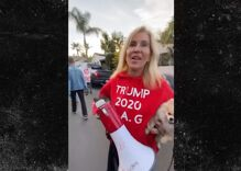 Trump supporter caught on camera spouting anti-gay slurs but claims she's the real victim