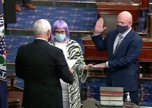 Out Sen. Kyrsten Sinema's look steals the limelight at Mark Kelly's swearing in ceremony