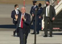 Video of Mike Pence prancing & clapping is going viral on Twitter