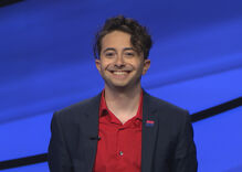 A Jeopardy contestant wore a bi flag pin during one of Alex Trebek's last shows