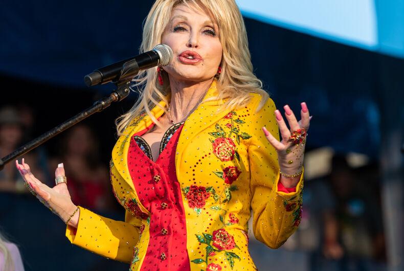 Newport, Rhode Island, USA - July 27,2019: Dolly Parton performs at The Newport Folk Festival