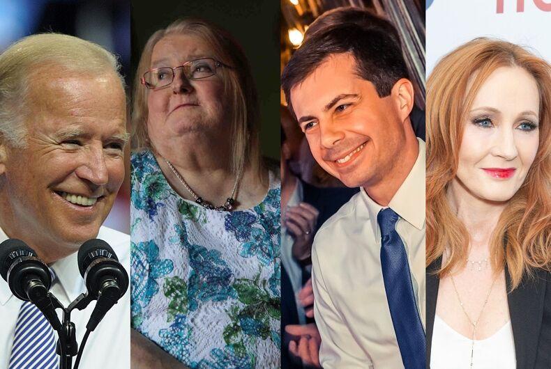Joe Biden/Aimee Stephens/Pete Buttigieg/J.K. Rowling