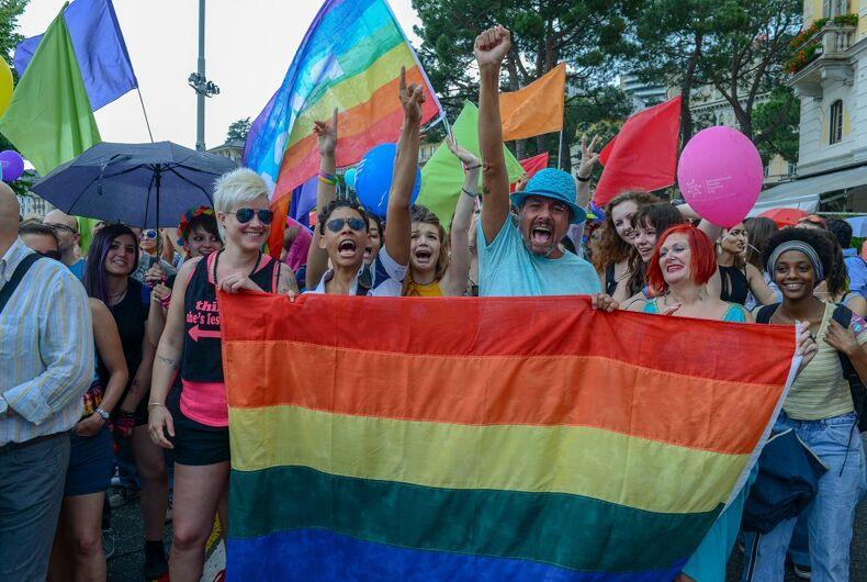 A scene from 2018's Pride in Lugano, Switzerland