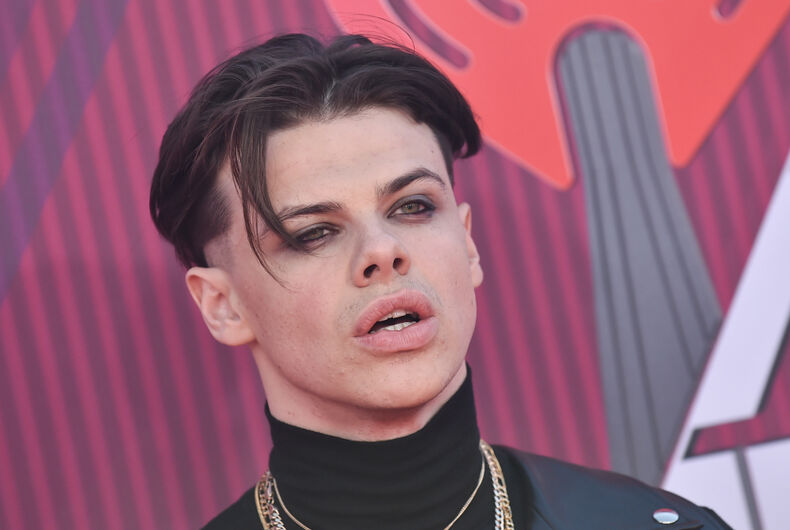 Yungblud arrives for the iHeart Radio Music Awards 2019 on March 14, 2019 in Los Angeles, CA