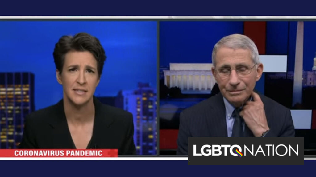 "Trump blocked Dr. Fauci from going on Rachel Maddow's show ""for months."" Biden has already let him."