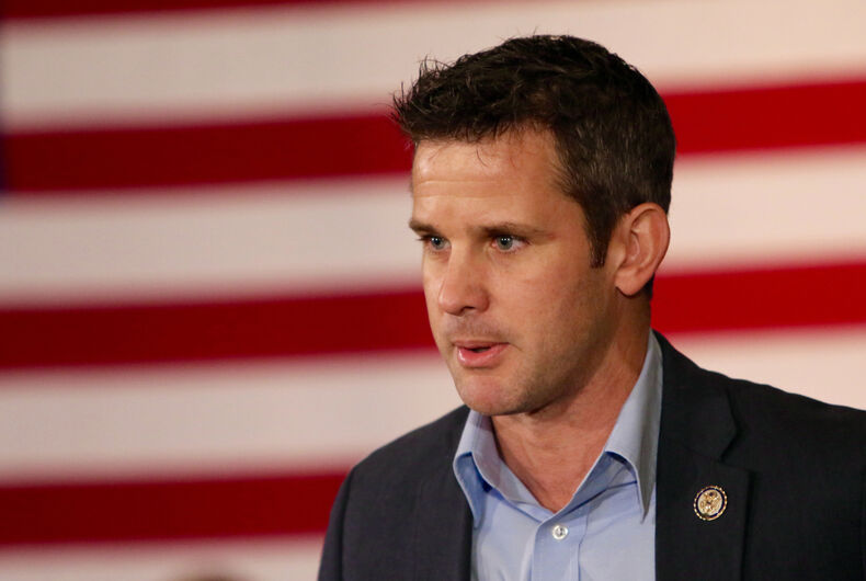 JANUARY 29, 2016: U.S. Representative Adam Kinzinger of Illinois speaks at a political rally.