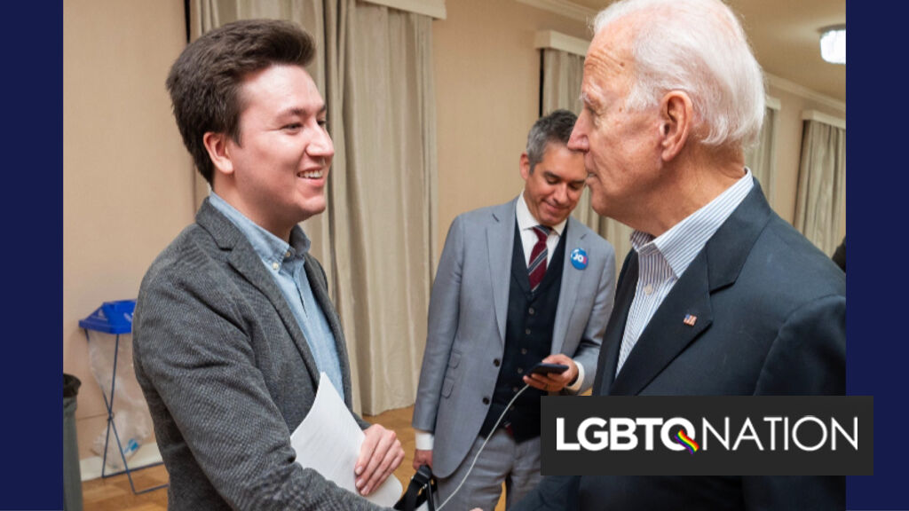 Joe Biden's advocacy encouraged him to come out. Now he's running Biden's social media.