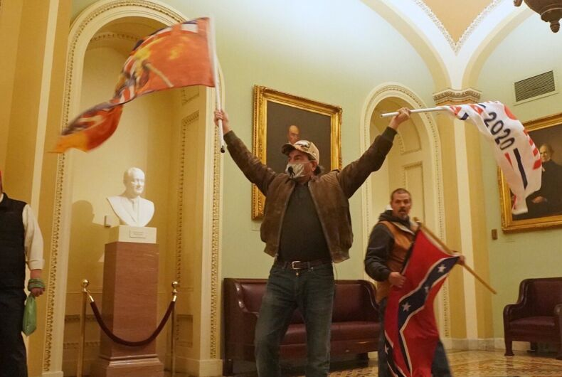 Insurrectionists loyal to Donald Trump rampage through the Capitol building