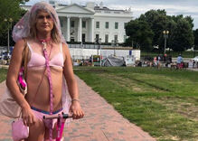 Fake photo of local trans woman rioting in Capitol building starts to spread in DC