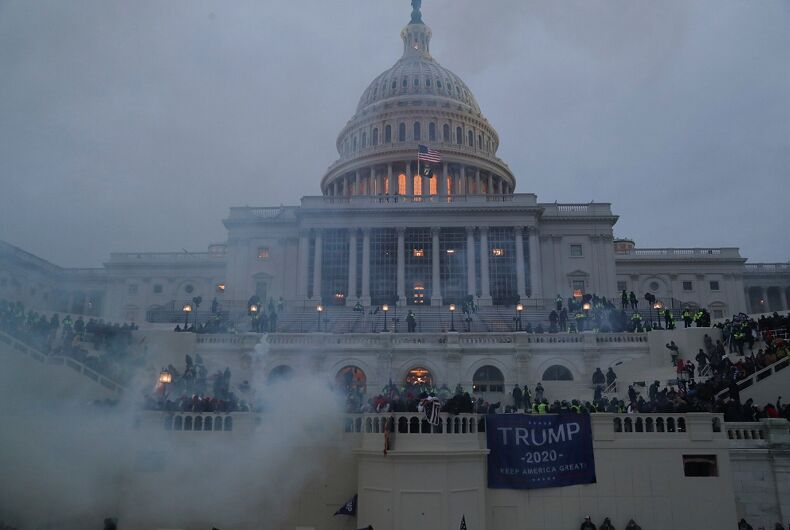 The Capitol was vandalized during the 1/6 riots.