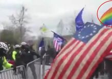 """LGBT for Trump"" protestors waved the rainbow flag at the Capitol MAGA riots"