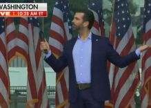 Trump Jr riled up MAGA protest with bizarre rant about trans women before they attacked Congress