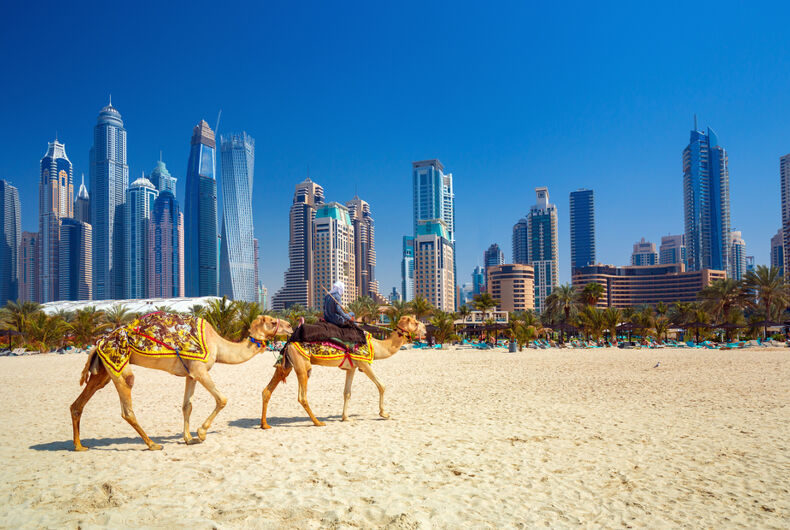 Jumeirah beach in Dubai, UAE