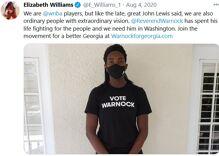 Did women basketball players kick off Raphael Warnock's winning Senate campaign in Georgia?