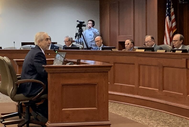 1/22/2020: South Dakota state rep. Fred Deutch testifies in favor an anti-transgender bill he proposed.