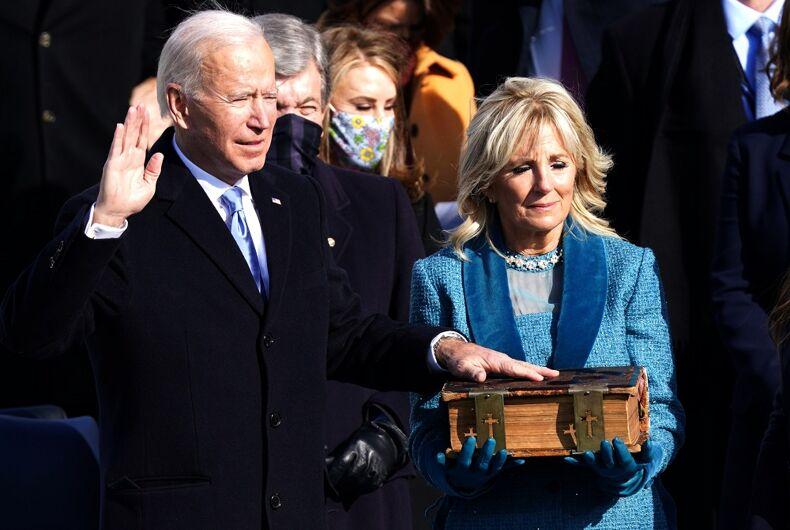 Joe Biden is sworn in as president on January 20, 2021