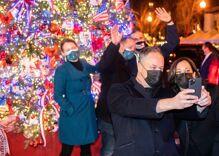 Kamala Harris visits D.C.'s gayborhood to see Christmas tree decorated in her honor