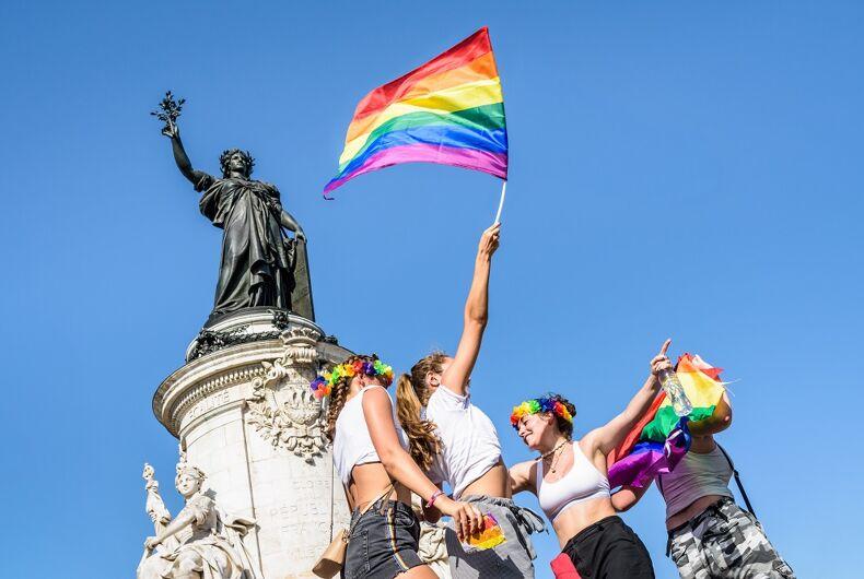 Scene from Pride in Paris in 2019