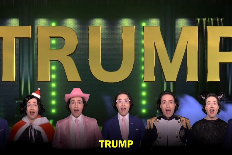 Screencap from Randy Rainbow's video