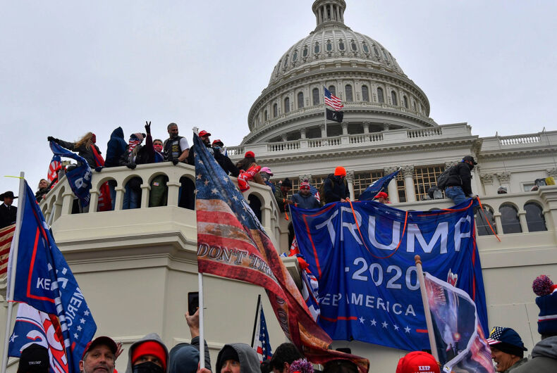 Trump supporters staging a takeover of the U.S. Capitol