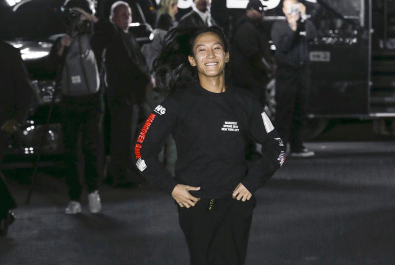 NEW YORK, NY - September 09, 2017: Designer Alexander Wang walks the runway at the Alexander Wang Spring Summer 2018 fashion show during New York Fashion Week