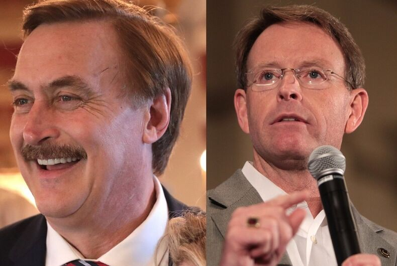 Mike Lindell and Tony Perkins