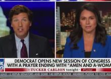 "Tulsi Gabbard tells Tucker Carlson gender-neutral language denies the ""existence of women"""