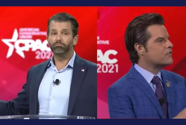 Matt Gaetz & Trump Jr. follow in Ted Cruz's trail with transphobic rhetoric at CPAC