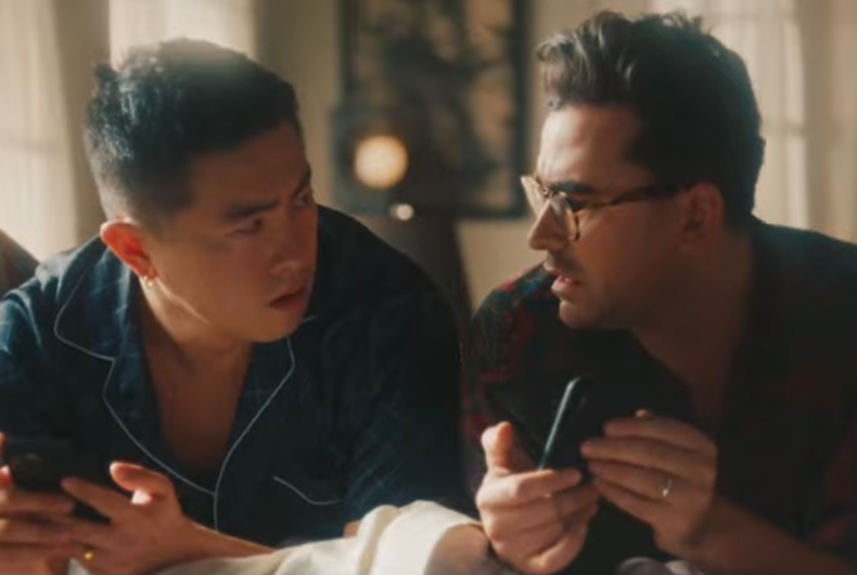 Bowen Yang (left) and Dan Levy (right)