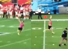 "Super Bowl announcer shouts ""Take off the bra & be a man!"" at Super Bowl streaker"