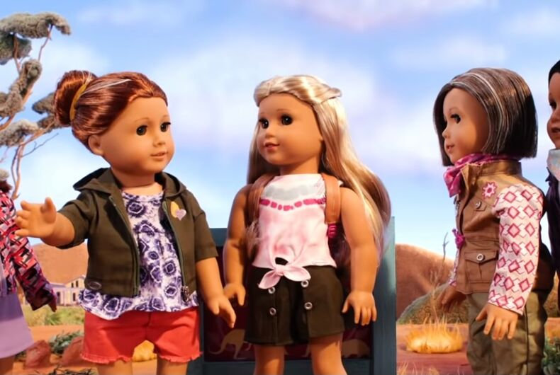 American Girl's Doll of the Year Kira Bailey (center) and her aunts Mamie and Linette.