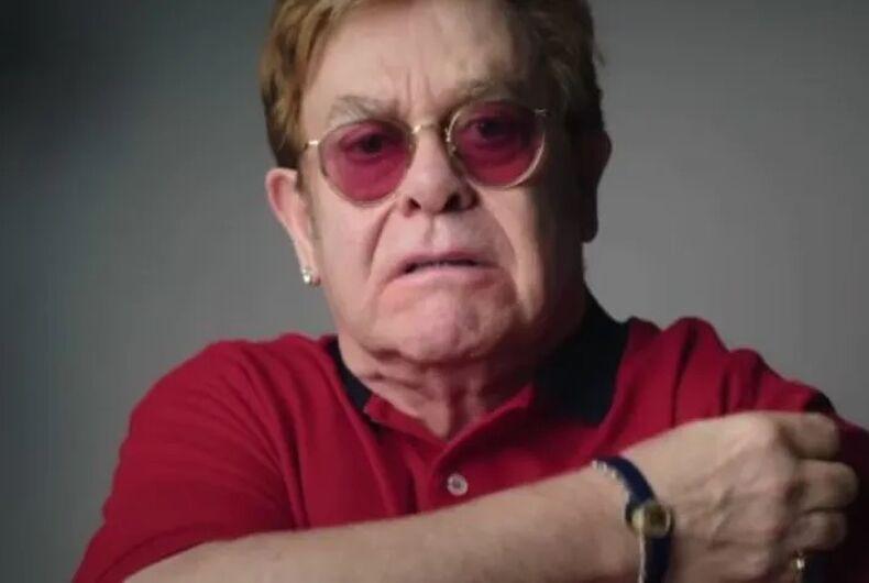 Elton John appears in a new British PSA promoting the coronavirus vaccine