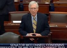 """Mitch McConnell flashed """"Masonic hand signs"""" during Senate speech according to new conspiracy"""