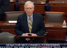 "Mitch McConnell flashed ""Masonic hand signs"" during Senate speech according to new conspiracy"