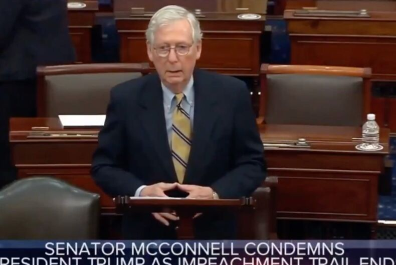 Was Mitch McConnell flashing