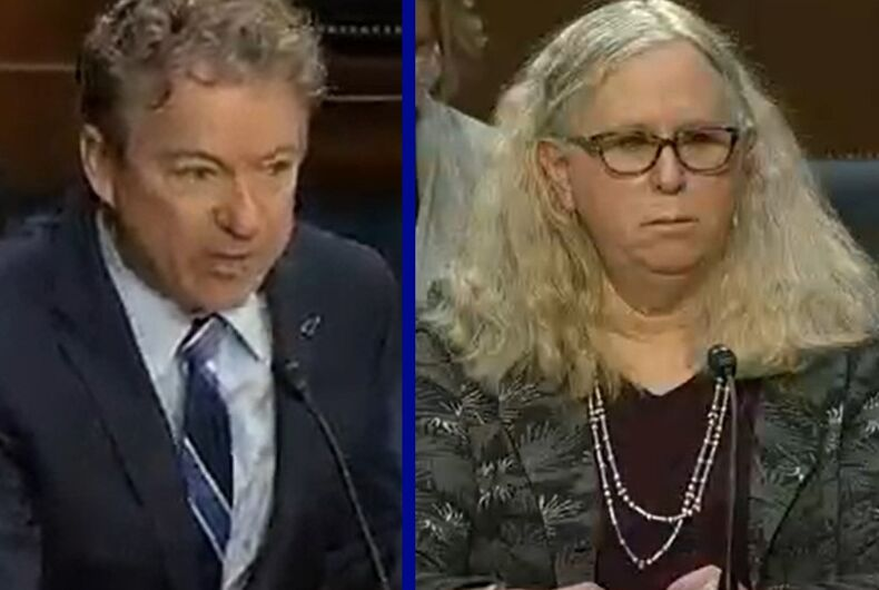 Sen. Rand Paul/Dr. Rachel Levine