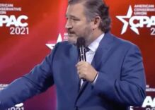 Ted Cruz tells a transphobic joke to warm up the audience at CPAC