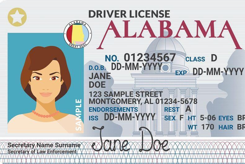 An Alabama Driver licence