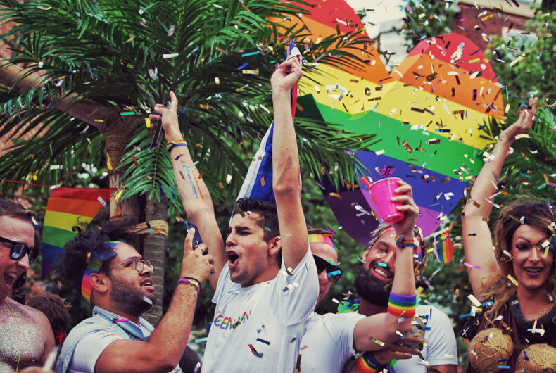 August 10, 2017: Revelers celebrate Pride in Copehagen, Denmark.