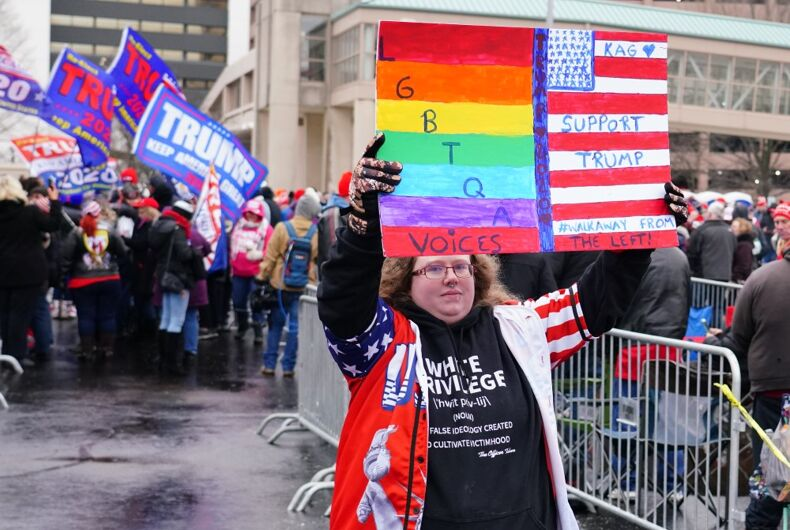 Lesbian Trump supporter at a June 14, 2020 protest in Milwaukee