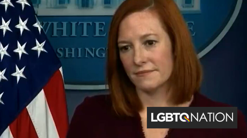 """Jen Psaki shuts down Fox News' transphobic question with """"Trans rights are human rights"""""""