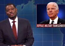 Saturday Night Live's Michael Che tells transphobic joke involving Joe Biden