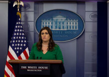 Sarah Huckabee Sanders doesn't just believe the Big Lie. She told it.