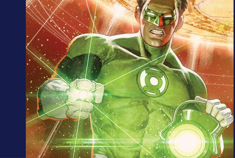 DC Comics' Green Lantern on the back cover of Green Lantern Season 2 Issue #12