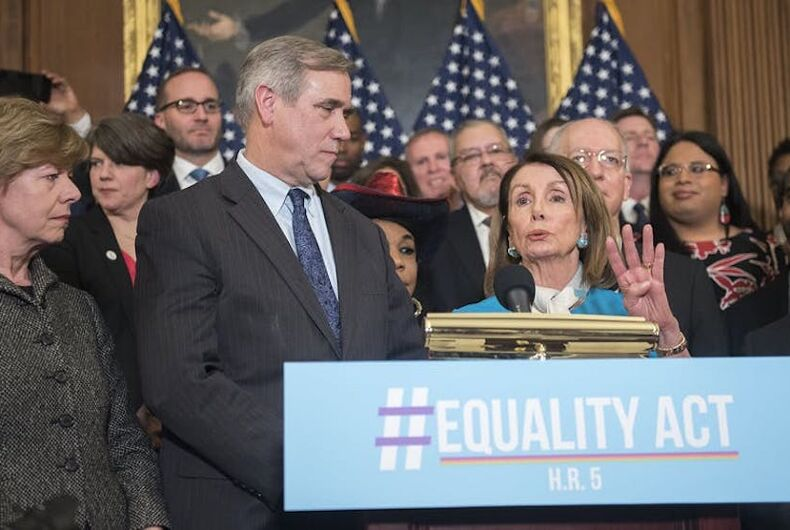 House Speaker Pelosi and members of Congress promoting the Equality Act