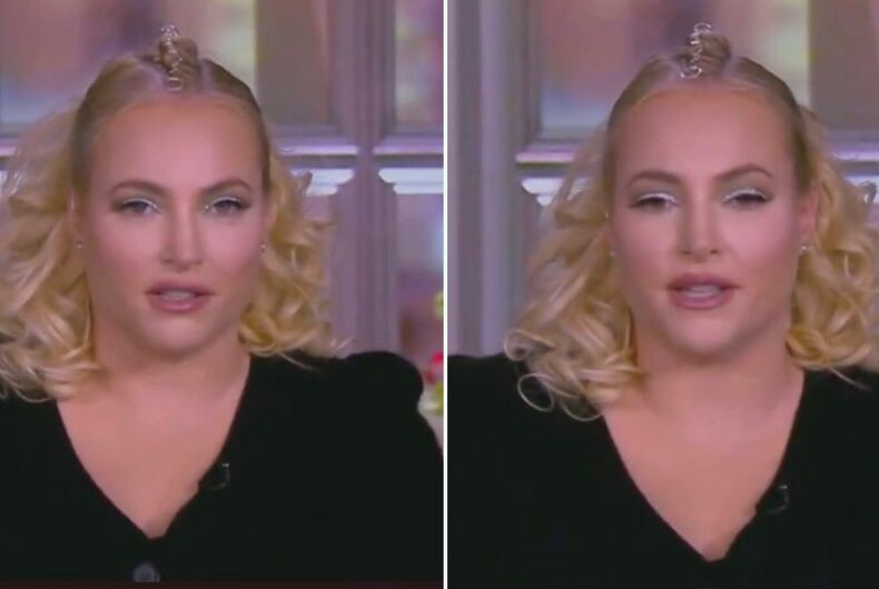 Meghan McCain on the March 24, 2020 episode of The View.