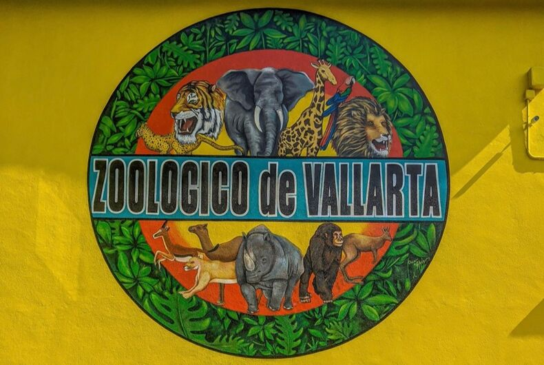 The sign outside of the Zoologico de Vallarta